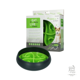 Eat Slow Live Longer Tumble Feeder Green