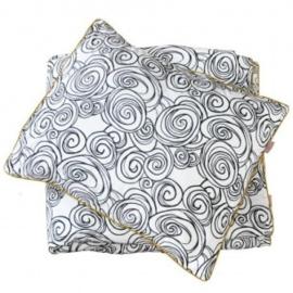 Witlof dekbedovertrek black-white