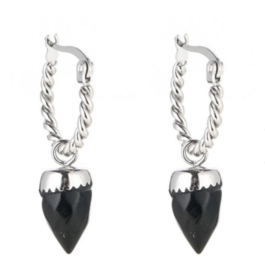 Earring with black