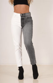 Double jeans grey