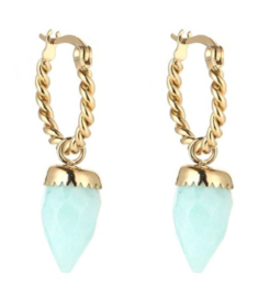 Earring with blue