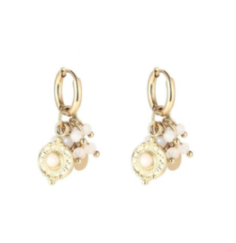 Summer party earring strass gold