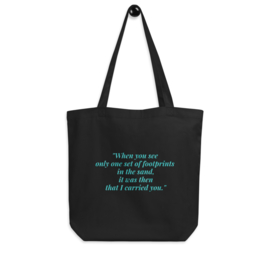 Tote bag | Footprints in the sand