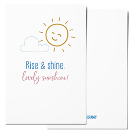 Mini card | Rise & shine, lovely sunshine!