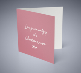 Christmas card | Love, peace & joy