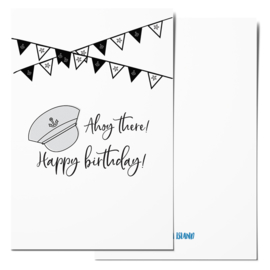 Mini card | Ahoy there! Happy birthday!