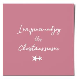 Kerstkaart | Love, peace & joy