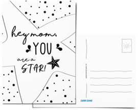 Postcard | Hey mom, you are a star