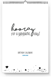 Birthday calendar | Hooray for a sandastic day