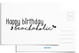 Postcard | Happy birthday, beachaholic
