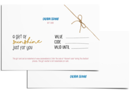 Gift card | A gift of sunshine