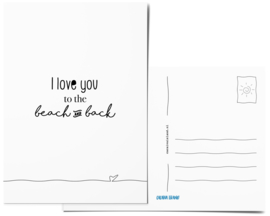 Postcard | I love you to the beach and back