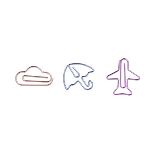 Paper clip | Umbrella, cloud & airplane set