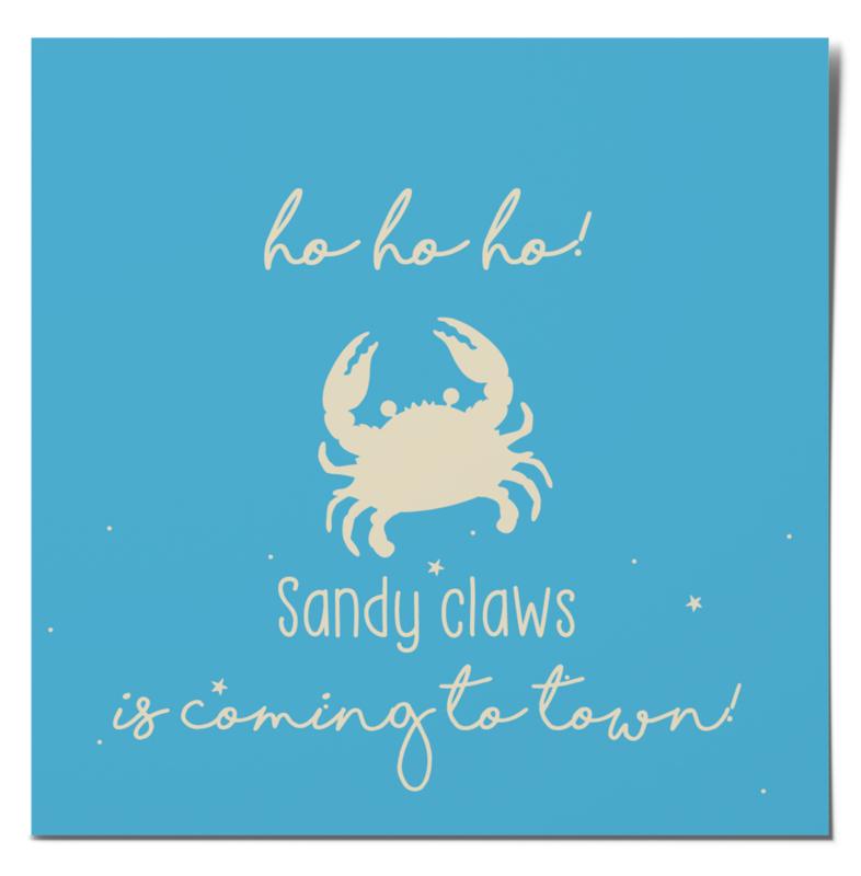 Christmas card | Sandy claws