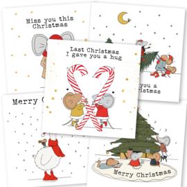 Kerstkaarten (set van 5)