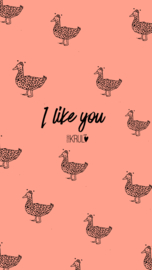 Wallpaper ´i like you´ Henk