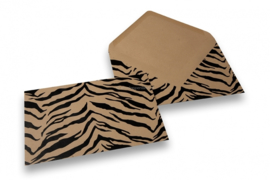 Bruin kraft + zwart tijgerprint