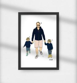 Vaderdag portret kleur