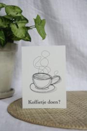 Koffietje doen?