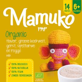 Mamuko bouillie bio l'avoine, l'orge et sarrasin vert, blé d'épeautre, seigle 6+ mois