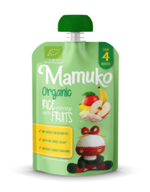 Mamuko bouillie bio riz au lait aux fruits 4+ mois