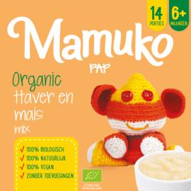 Mamuko bouillie bio l'avoine et mais 6+ mois