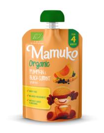 Mamuko biologische pompoen en zwarte bessen puree 4+ mnd