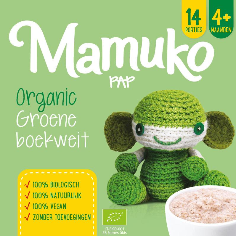 Mamuko biologische pap 4+ mnd. - groene boekweit