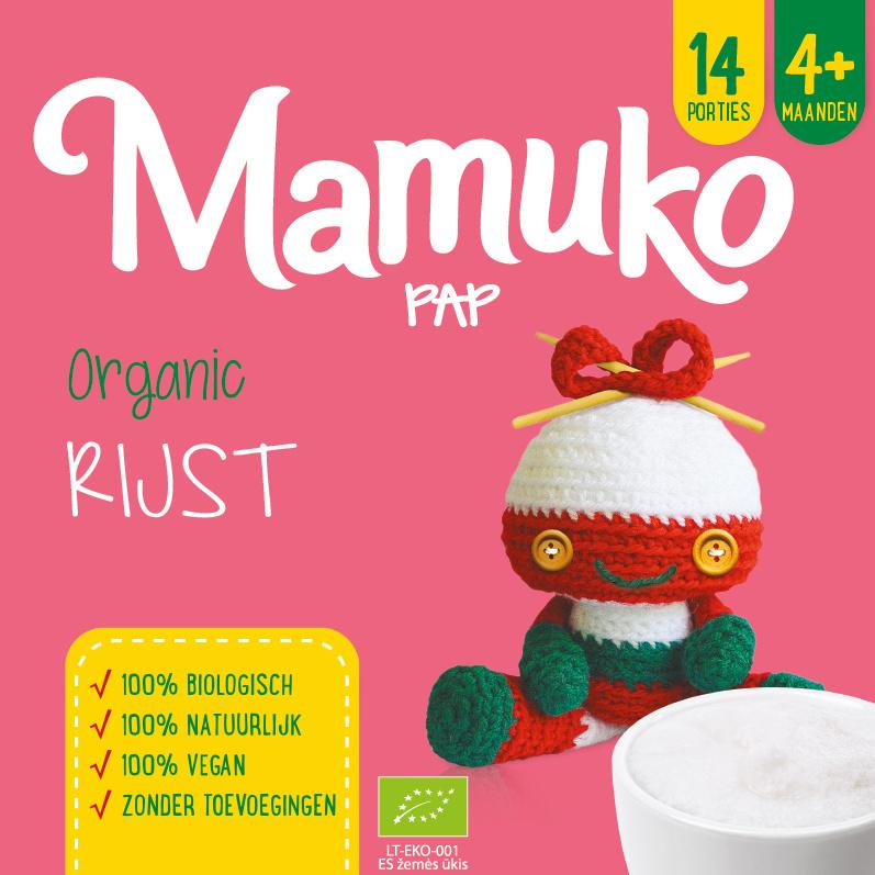 Mamuko biologische pap 4+ mnd. - rijst