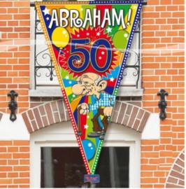 grote punt vlag Abraham  150x90 cm