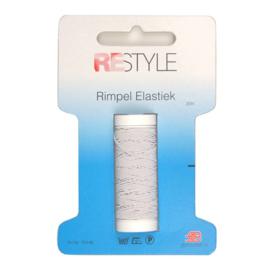 Restyle Rimpel elastiek wit 20m