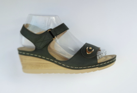 YQ 2002 sandaletten zwart  maten 36 t/m 41