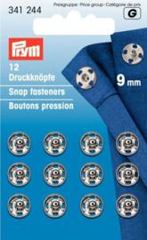Prym 341244 Drukkers zilver 9 mm. (krt)