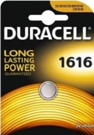 Duracell lithium knoopcel 1616   3 volt
