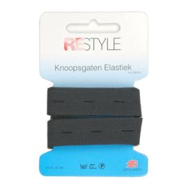 Restyle Knoopsgaten elastiek zwart 1m/18mm