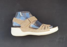 LW8867  sandaletten khaki  maten 36 t/m 41