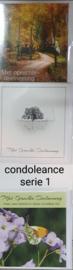 3 wenskaarten met envelop condoleance keuze uit 10 series (b) klik hier voor andere series