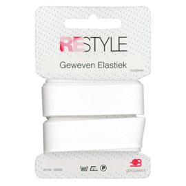 Restyle geweven elastiek wit 1m/20mm