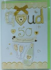Wenskaart 3d 50 jaar getrouwd