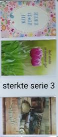 3 wenskaarten met envelop sterkte 10 series klik hier voor andere series