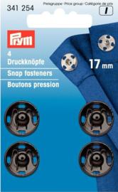 Prym 341254 Drukkers zwart 17 mm. (krt)
