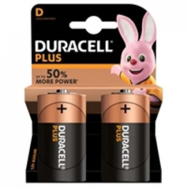 Duracel plus D 2 stuks