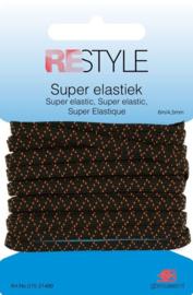 Restyle Super elastiek zwart 6m/4,5mm