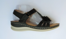 YQ 2005 sandaletten zwart maten 36 t/m 41