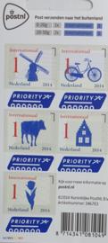 postzegel wereld  € 1,55