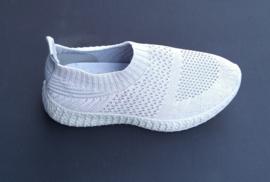 Stretch schoenen licht grijs LW-3581 maten 26 t/m 34