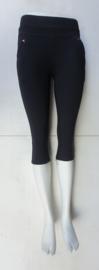 stretch comfort broek   model capri donker zwart