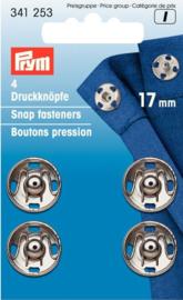 Prym 341253 Drukkers zilver 17 mm. (krt)