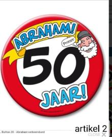 Maxi button leeftijd Abraham