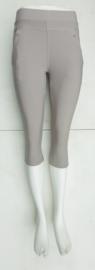 stretch comfort broek   model capri licht grijs